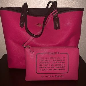 Reversible Large Coach Tote